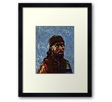 Omar Little by VanGogh - www.art-customized.com Framed Print