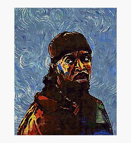 Omar Little by VanGogh - www.art-customized.com Photographic Print