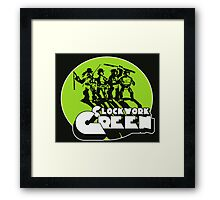 A Clockwork Green Framed Print
