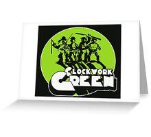 A Clockwork Green Greeting Card