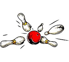Bowling Photographic Print