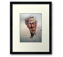 grey-water color and pencil sketch Framed Print