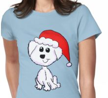 Christmas Yorkie Womens Fitted T-Shirt
