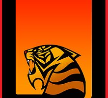 Tiger Emblem Orange/Red - (iPad) by Adam Angold
