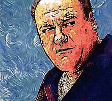 Tony Soprano by VanGogh - www.art-customized.com by art-customized