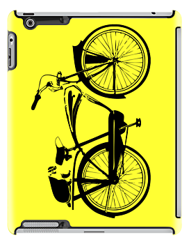 Badger On A Bicycle Yellow Cases by M  Bianchi