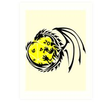 Dungeons and Dragons - Black and Yellow! Art Print