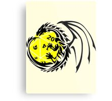 Dungeons and Dragons - Black and Yellow! Metal Print