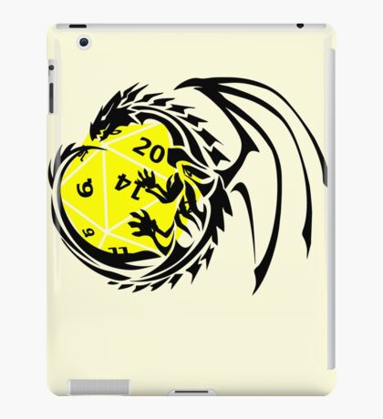 Dungeons and Dragons - Black and Yellow! iPad Case/Skin