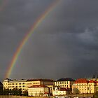 Double Rainbow over Praha by PorcelainPoet