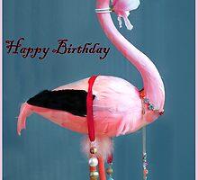 Stork Birthday card by Forfarlass