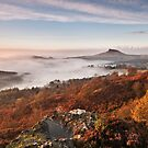 Late Autumn Mist at Roseberry Topping by Phillip Dove
