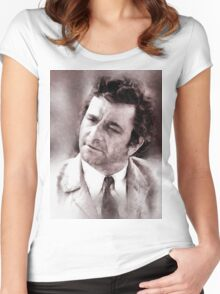 Peter Falk Columbo by John Springfield Women's Fitted Scoop T-Shirt