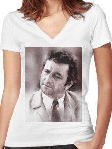 Peter Falk Columbo by John Springfield Women's Fitted V-Neck T-Shirt
