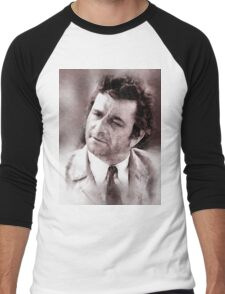 Peter Falk Columbo by John Springfield Men's Baseball ¾ T-Shirt