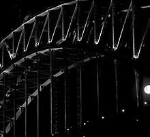 Sydney Harbour Bridge Moonrise by Alexander Kesselaar