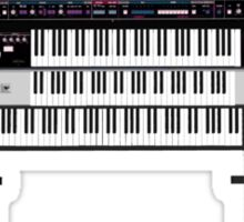 Vintage Synthesizers / Keyboards Sticker