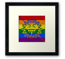 Anonymous LGBT flag Martel Unbowed Unbent Unbroken Framed Print
