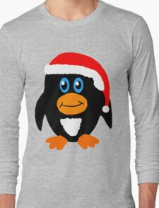 Christmas Penguin Long Sleeve T-Shirt