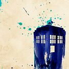 Watercolour Styled Tardis by Colin Capurso