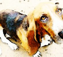 Basset Hound - I'm Ready by Sharon Cummings