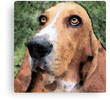 Basset Hound - Irresistible  Canvas Print