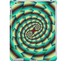 Snake Skin Spiral in Green and Yellow iPad Case/Skin