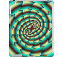 Snake Skin Spiral in Green and Yellow iPad Case/Skin