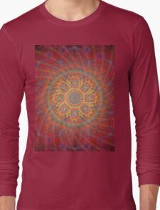 Psychedelic Spiral Design Long Sleeve T-Shirt