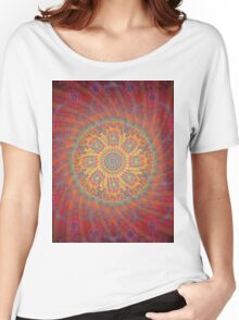 Psychedelic Spiral Design Women's Relaxed Fit T-Shirt