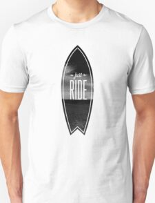 Just Ride - Surfer Style Motive T-Shirt