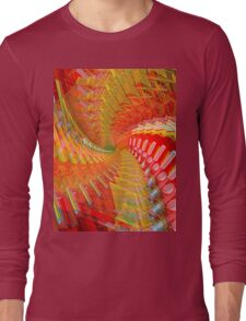 Abstract / Psychedelic Spiral Design Long Sleeve T-Shirt