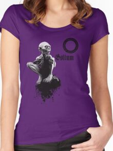 Gollum the fisher king  Women's Fitted Scoop T-Shirt