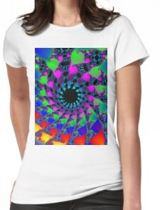 Psychedelic Fractal Spiral Vortex Womens Fitted T-Shirt