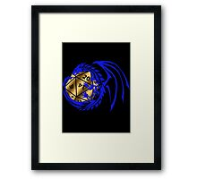 Dungeons and Dragons - Blue and Gold! Framed Print