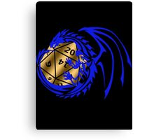 Dungeons and Dragons - Blue and Gold! Canvas Print