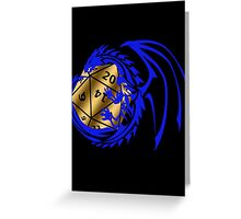 Dungeons and Dragons - Blue and Gold! Greeting Card
