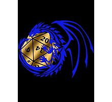Dungeons and Dragons - Blue and Gold! Photographic Print