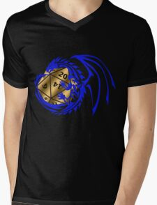 Dungeons and Dragons - Blue and Gold! Mens V-Neck T-Shirt