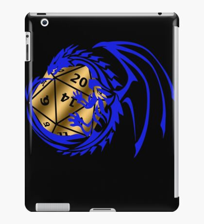 Dungeons and Dragons - Blue and Gold! iPad Case/Skin