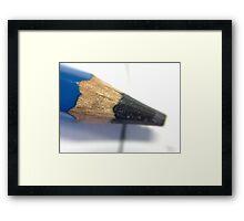 Pencil, Macro. Framed Print