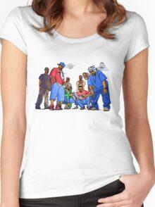 Wu-Tang Nine - www.art-customized.com Women's Fitted Scoop T-Shirt