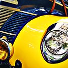 Blue and Yellow Speedster by htrdesigns