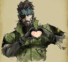 Naked Snake Heart - Metal Gear Solid 3 by tasoulis12