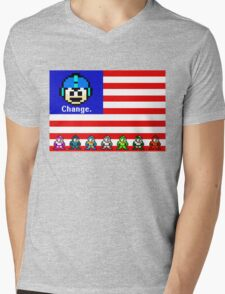 Mega Man: Change Mens V-Neck T-Shirt