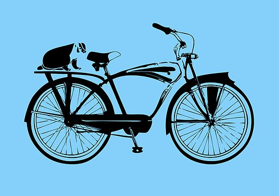 Badger On A Bicycle Card & Prints by M  Bianchi