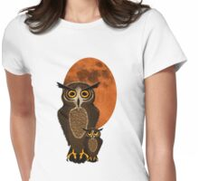 Mom and baby owl Womens Fitted T-Shirt