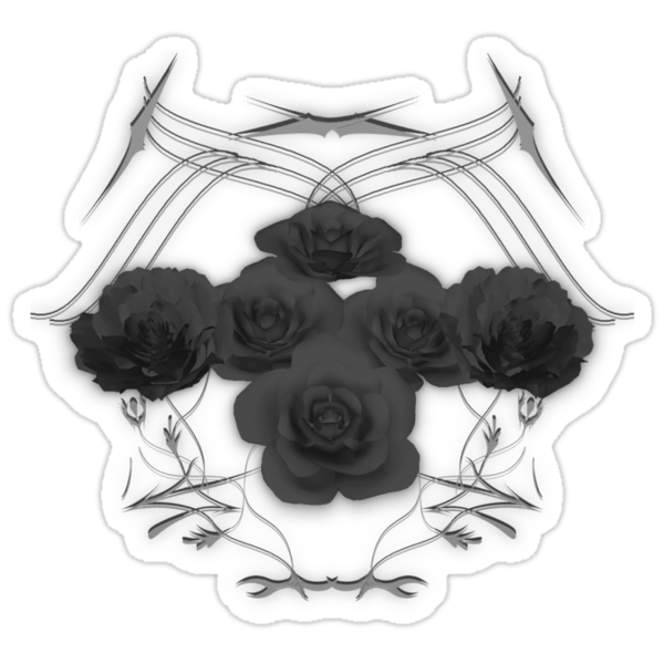 Black Roses and Tribal Graphics by bradyarnold