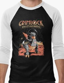 Space Pulp Robot Dinosaur Hero Men's Baseball ¾ T-Shirt