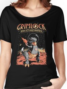 Space Pulp Robot Dinosaur Hero Women's Relaxed Fit T-Shirt